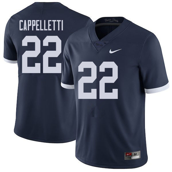 Men #22 John Cappelletti Penn State Nittany Lions College Throwback Football Jerseys Sale-Navy