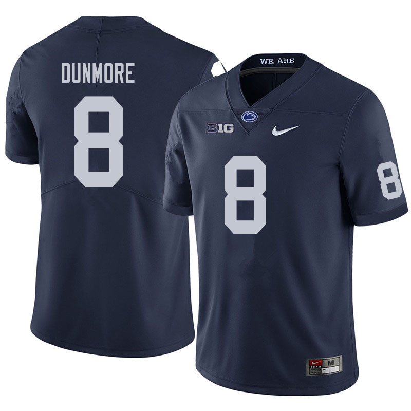 Men #8 John Dunmore Penn State Nittany Lions College Football Jerseys Sale-Navy