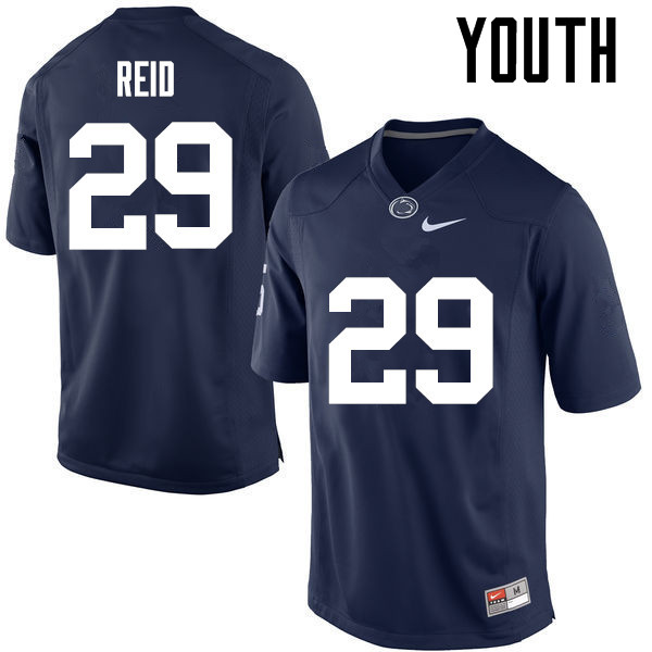 Youth Penn State Nittany Lions #29 John Reid College Football Jerseys-Navy