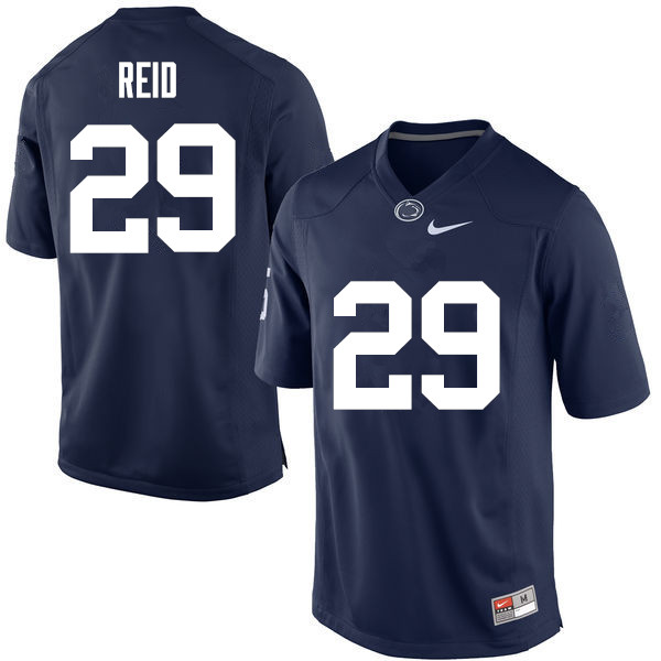 Men Penn State Nittany Lions #29 John Reid College Football Jerseys-Navy