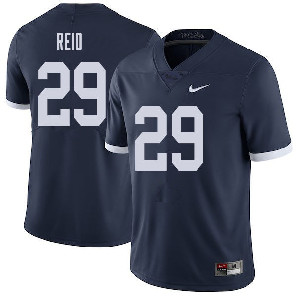 Men #29 John Reid Penn State Nittany Lions College Throwback Football Jerseys Sale-Navy