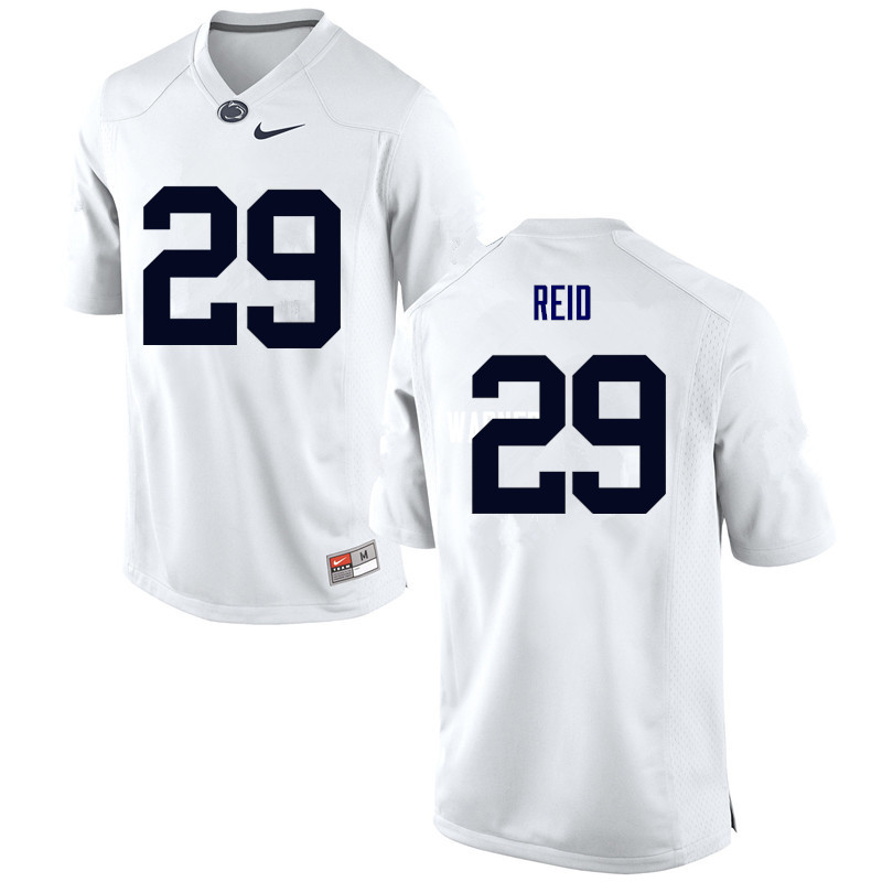 Men Penn State Nittany Lions #29 John Reid College Football Jerseys-White