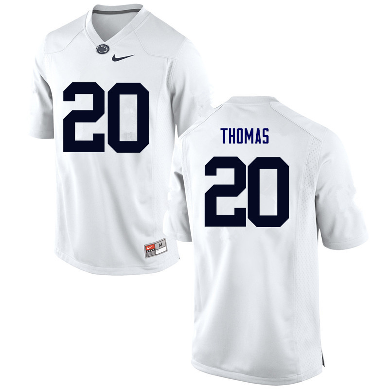 Men Penn State Nittany Lions #20 Johnathan Thomas College Football Jerseys-White