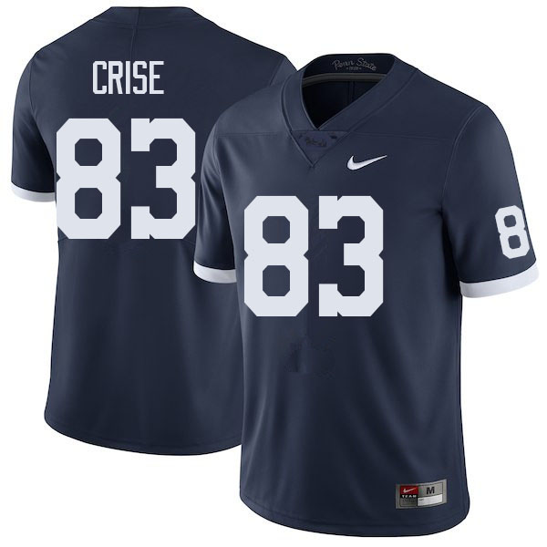 Men #83 Johnny Crise Penn State Nittany Lions College Football Jerseys Sale-Retro
