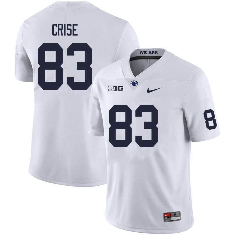 Men #83 Johnny Crise Penn State Nittany Lions College Football Jerseys Sale-White