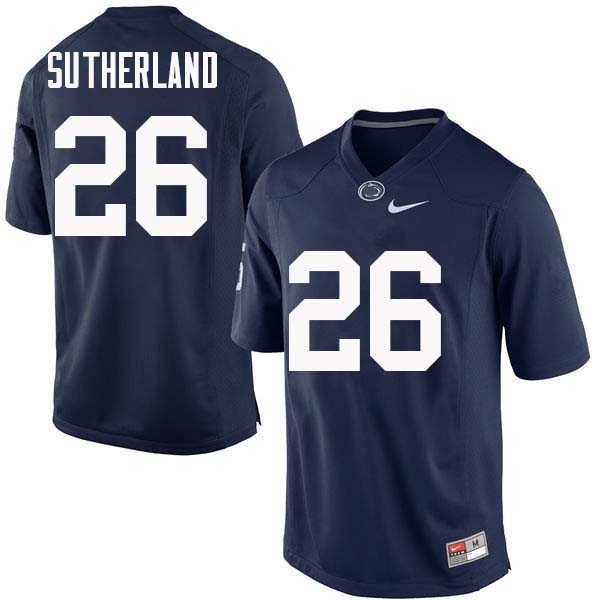 Men #26 Jonathan Sutherland Penn State Nittany Lions College Football Jerseys Sale-Navy