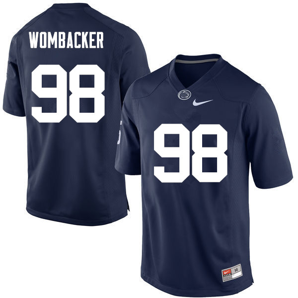 Men Penn State Nittany Lions #98 Jordan Wombacker College Football Jerseys-Navy