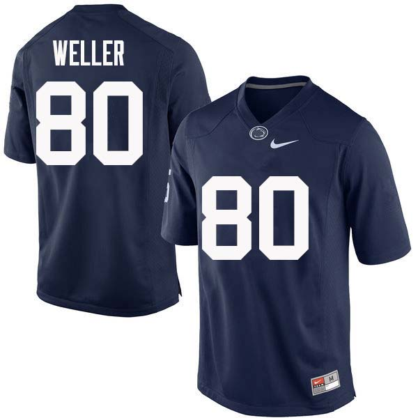 Men #80 Justin Weller Penn State Nittany Lions College Football Jerseys Sale-Navy