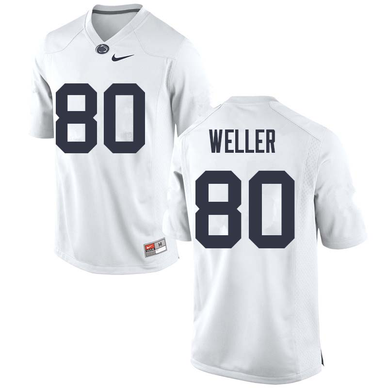 Men #80 Justin Weller Penn State Nittany Lions College Football Jerseys Sale-White