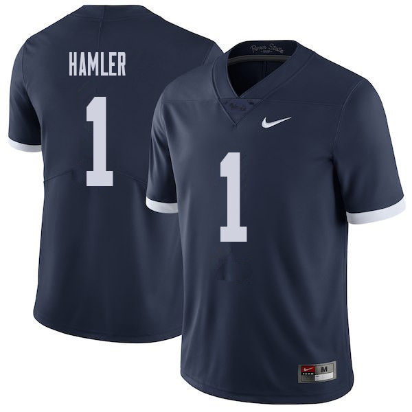 Men #1 K.J. Hamler Penn State Nittany Lions College Throwback Football Jerseys Sale-Navy