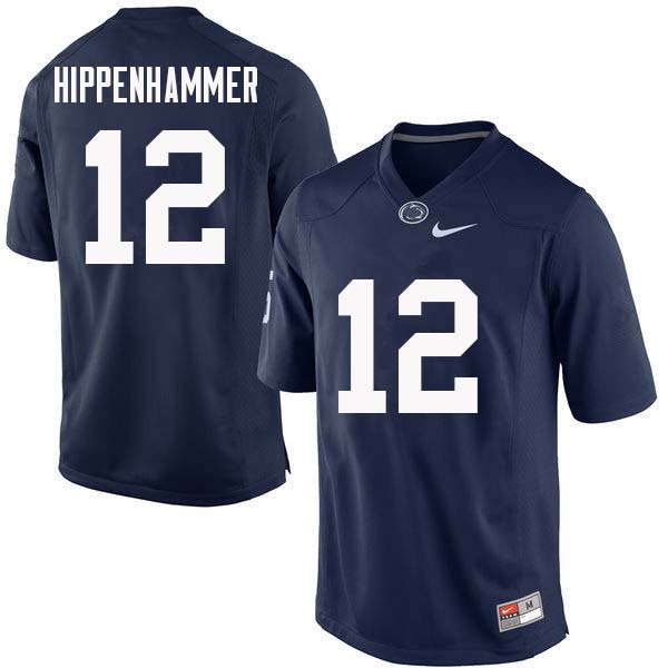 Men #12 Mac Hippenhammer Penn State Nittany Lions College Football Jerseys Sale-Navy