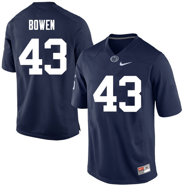 Men Penn State Nittany Lions #43 Manny Bowen College Football Jerseys-Navy