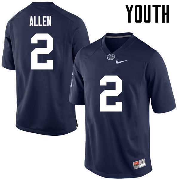 Youth Penn State Nittany Lions #2 Marcus Allen College Football Jerseys-Navy