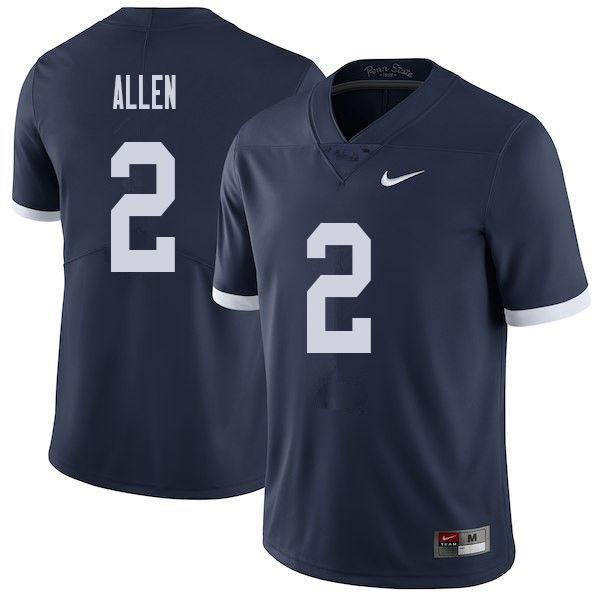 9d38a3de159 Men #2 Marcus Allen Penn State Nittany Lions College Throwback Football  Jerseys Sale-Navy