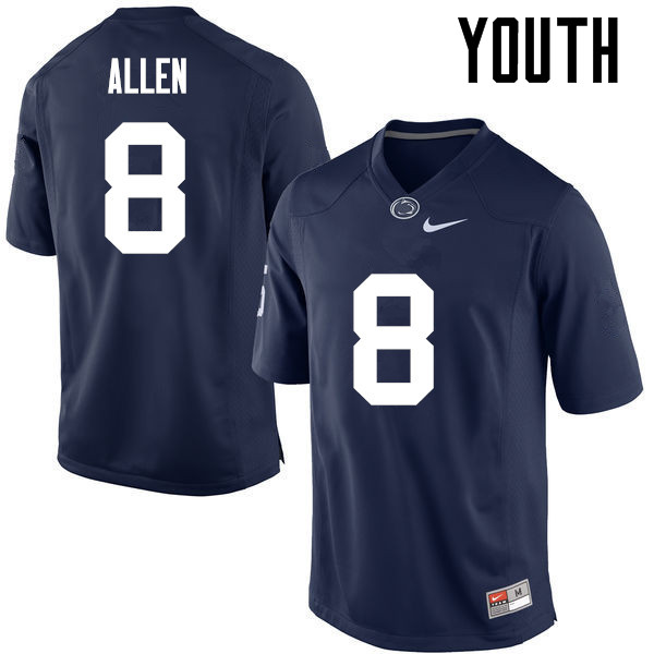 Youth Penn State Nittany Lions #8 Mark Allen College Football Jerseys-Navy