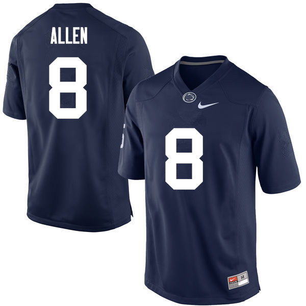 Men Penn State Nittany Lions #8 Mark Allen College Football Jerseys-Navy