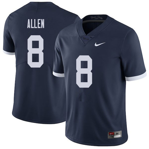 Men #8 Mark Allen Penn State Nittany Lions College Throwback Football Jerseys Sale-Navy