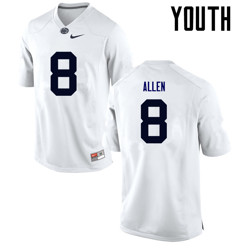 Youth Penn State Nittany Lions #8 Mark Allen College Football Jerseys-White