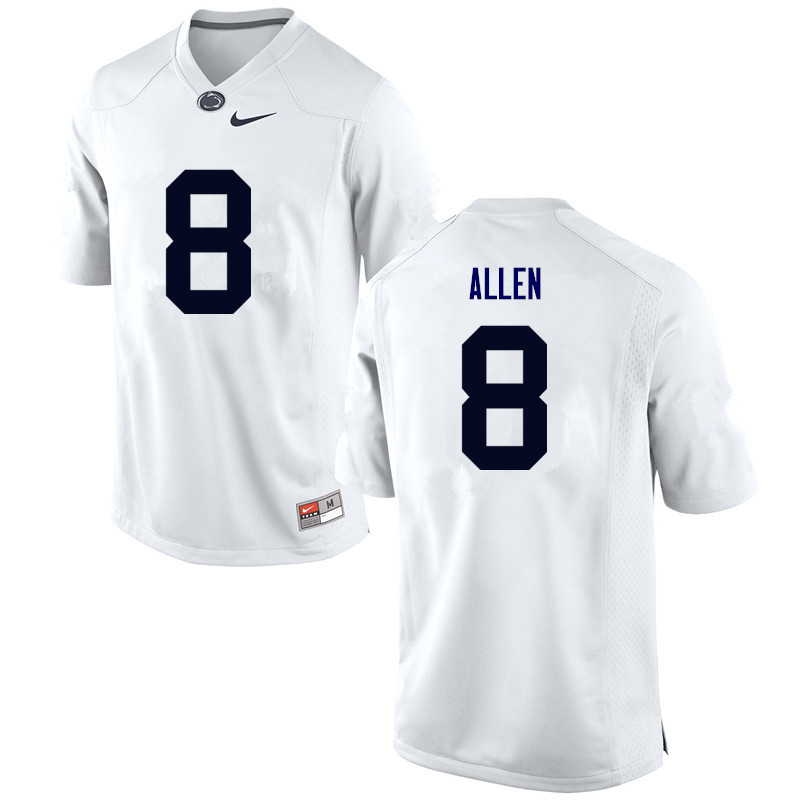 Men Penn State Nittany Lions #8 Mark Allen College Football Jerseys-White
