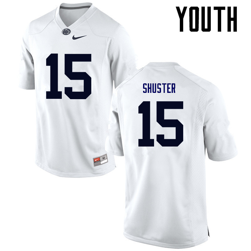 Youth Penn State Nittany Lions #15 Michael Shuster College Football Jerseys-White