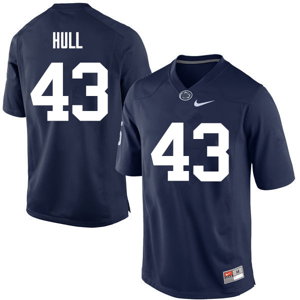 Men Penn State Nittany Lions #43 Mike Hull College Football Jerseys-Navy