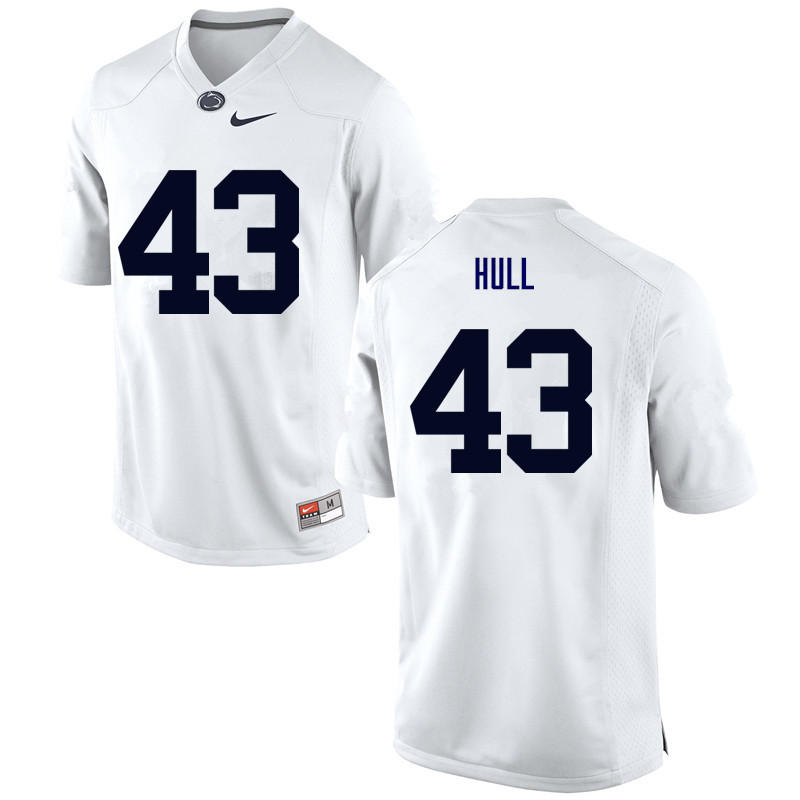 Men Penn State Nittany Lions #43 Mike Hull College Football Jerseys-White
