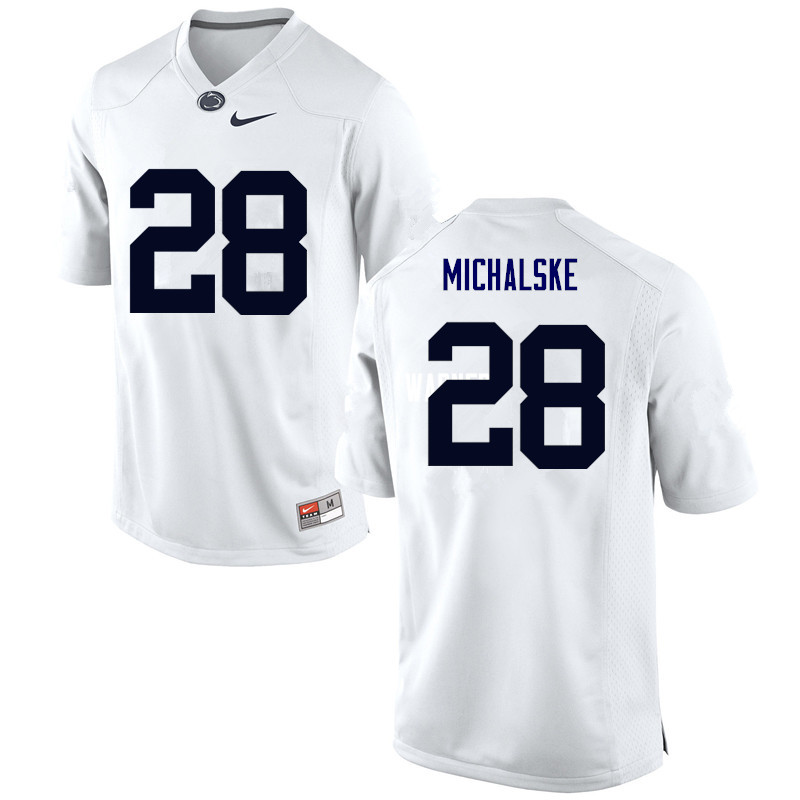 Men Penn State Nittany Lions #28 Mike Michalske College Football Jerseys-White