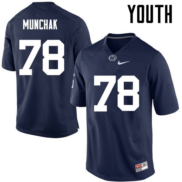 Youth Penn State Nittany Lions #78 Mike Munchak College Football Jerseys-Navy