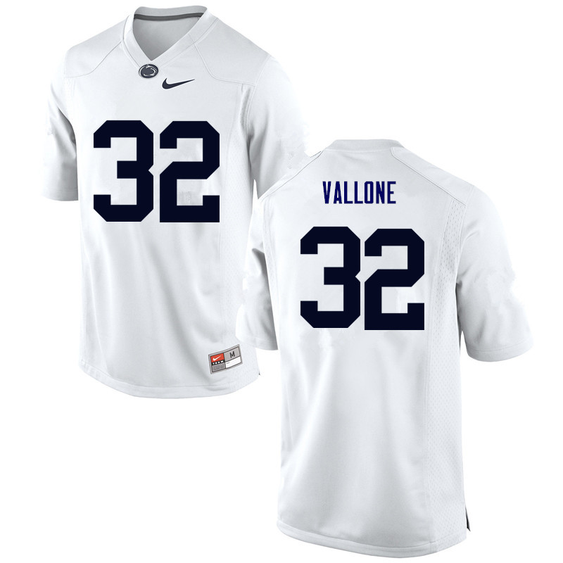 Men Penn State Nittany Lions #32 Mitchell Vallone College Football Jerseys-White