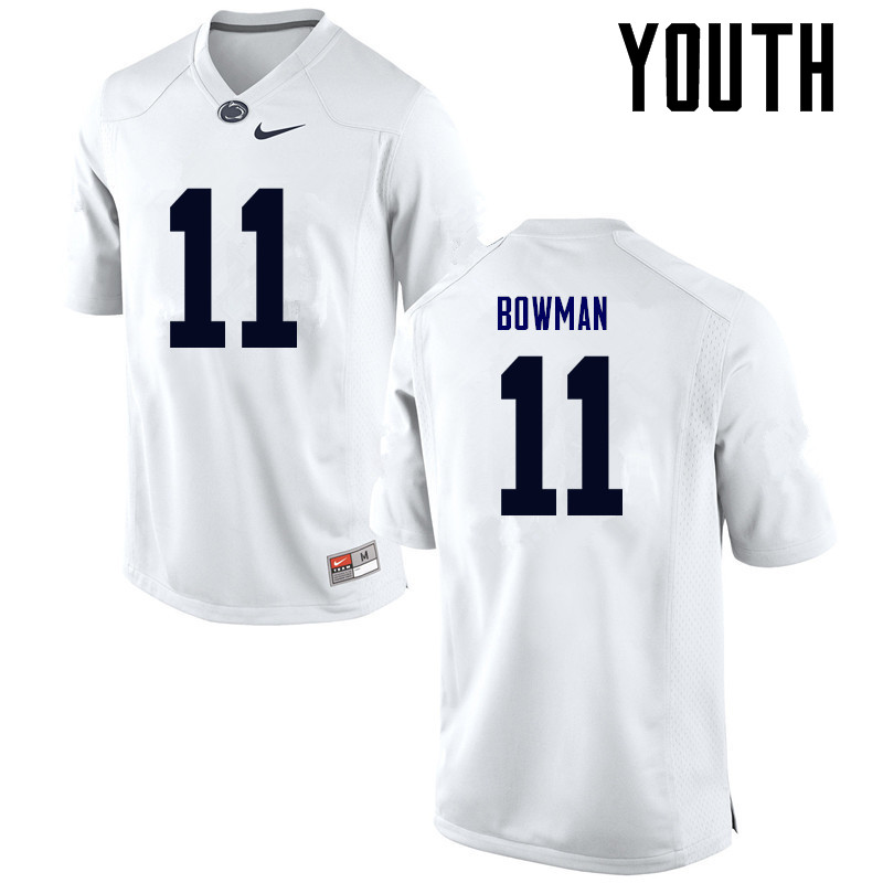 Youth Penn State Nittany Lions #11 NaVorro Bowman College Football Jerseys-White