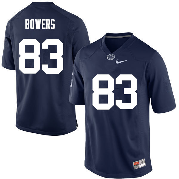 Men Penn State Nittany Lions #83 Nick Bowers College Football Jerseys-Navy