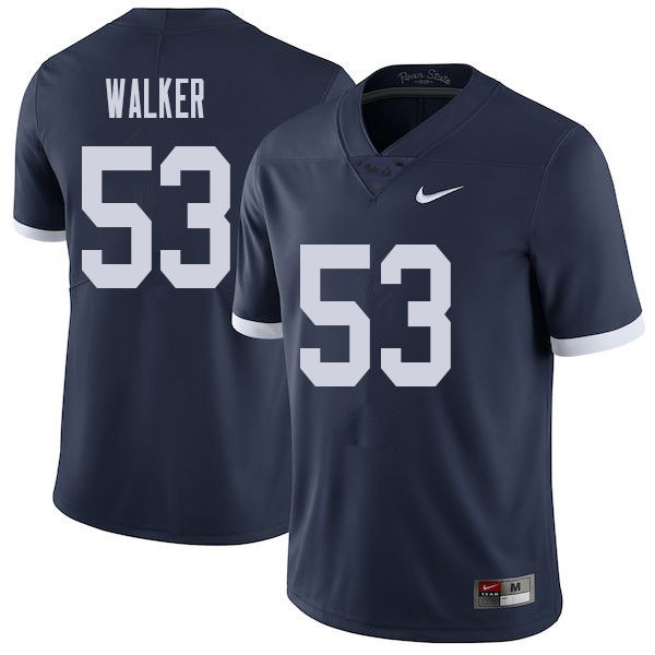 Men #53 Rasheed Walker Penn State Nittany Lions College Throwback Football Jerseys Sale-Navy