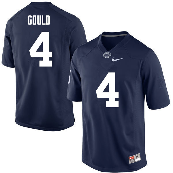 Men Penn State Nittany Lions #4 Robbie Gould College Football Jerseys-Navy