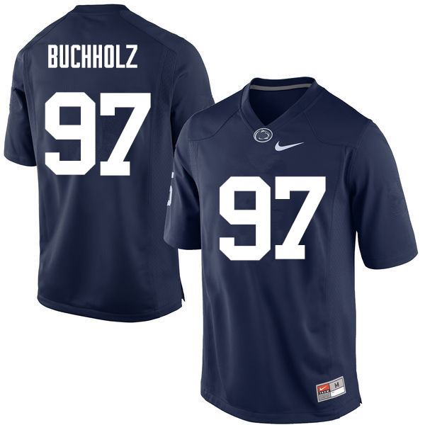 Men Penn State Nittany Lions #97 Ryan Buchholz College Football Jerseys-Navy