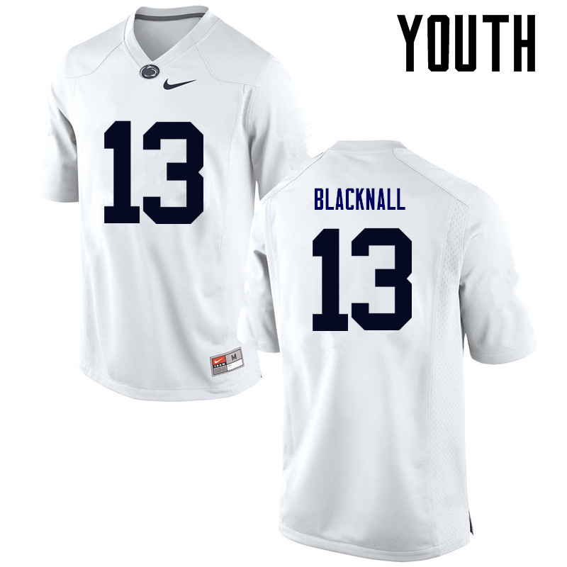 Youth Penn State Nittany Lions #13 Saeed Blacknall College Football Jerseys-White