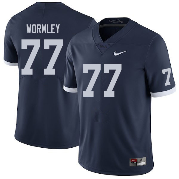 Men #77 Sal Wormley Penn State Nittany Lions College Football Jerseys Sale-Retro
