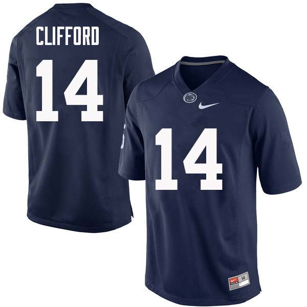 Men #14 Sean Clifford Penn State Nittany Lions College Football Jerseys Sale-Navy