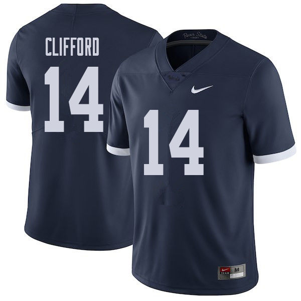Men #14 Sean Clifford Penn State Nittany Lions College Throwback Football Jerseys Sale-Navy