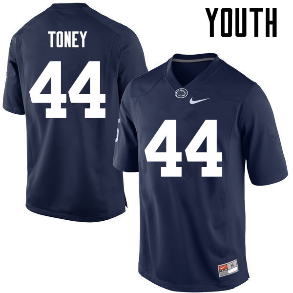 Youth Penn State Nittany Lions #44 Shaka Toney College Football Jerseys-Navy