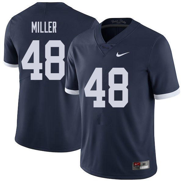 Men #48 Shareef Miller Penn State Nittany Lions College Throwback Football Jerseys Sale-Navy