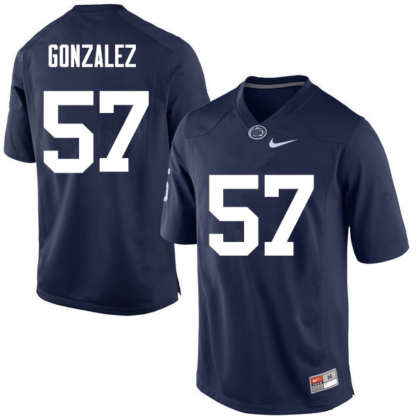 Men Penn State Nittany Lions #57 Steven Gonzalez College Football Jerseys-Navy