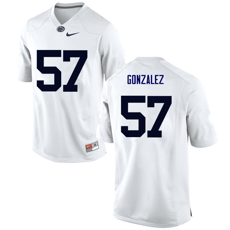 Men Penn State Nittany Lions #57 Steven Gonzalez College Football Jerseys-White
