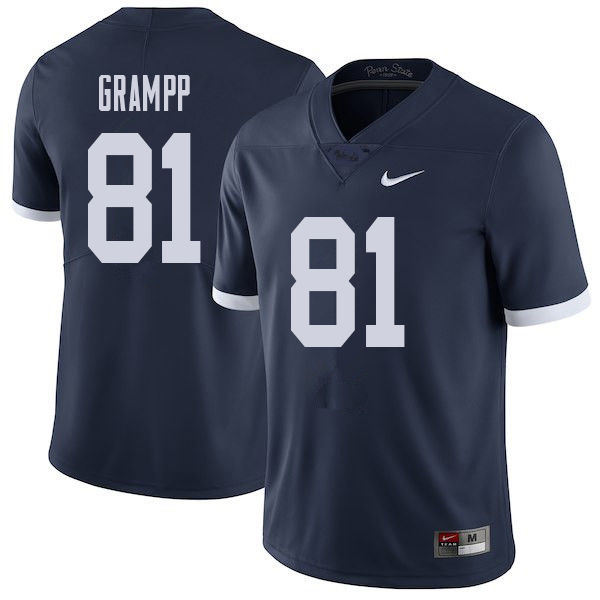 Men #81 Steven Grampp Penn State Nittany Lions College Throwback Football Jerseys Sale-Navy