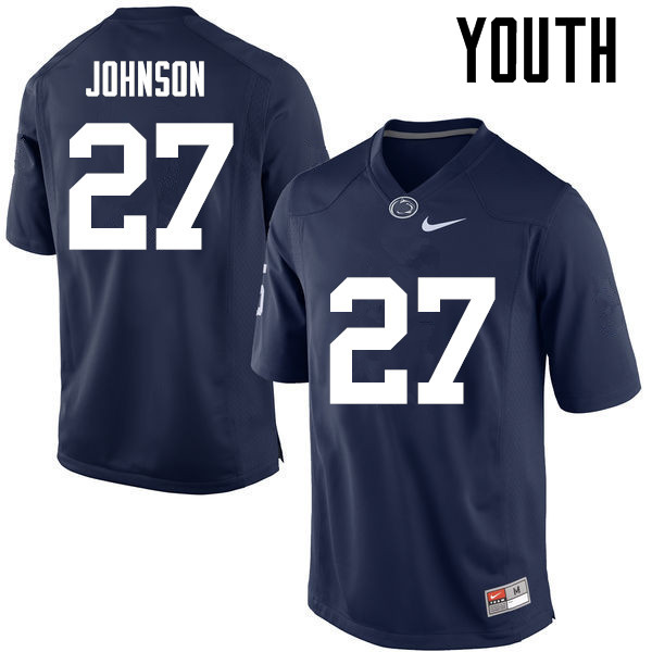 Youth Penn State Nittany Lions #27 T.J. Johnson College Football Jerseys-Navy
