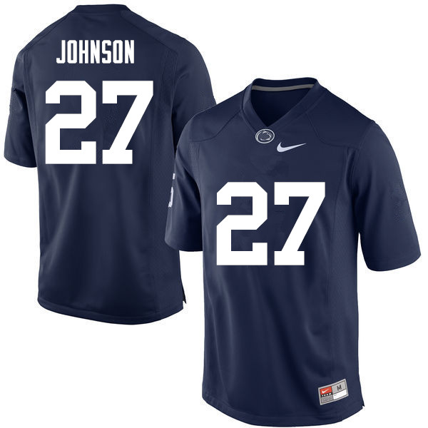 Men Penn State Nittany Lions #27 T.J. Johnson College Football Jerseys-Navy