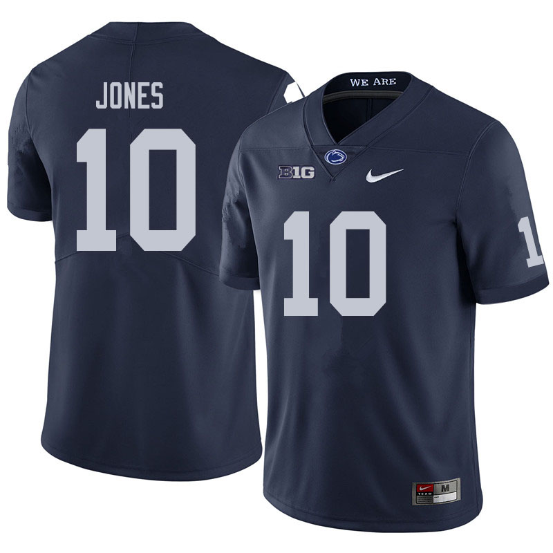 Men #10 TJ Jones Penn State Nittany Lions College Football Jerseys Sale-Navy
