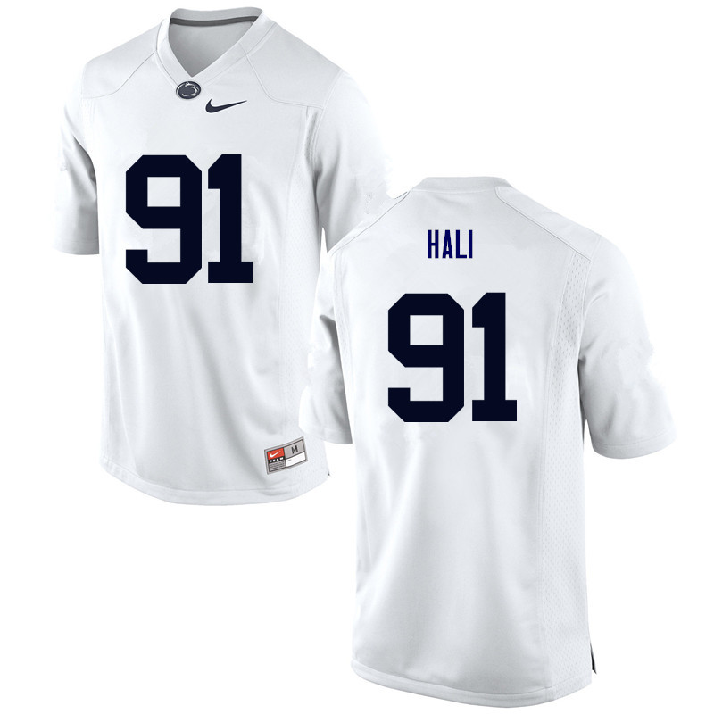 Men Penn State Nittany Lions #91 Tamba Hali College Football Jerseys-White