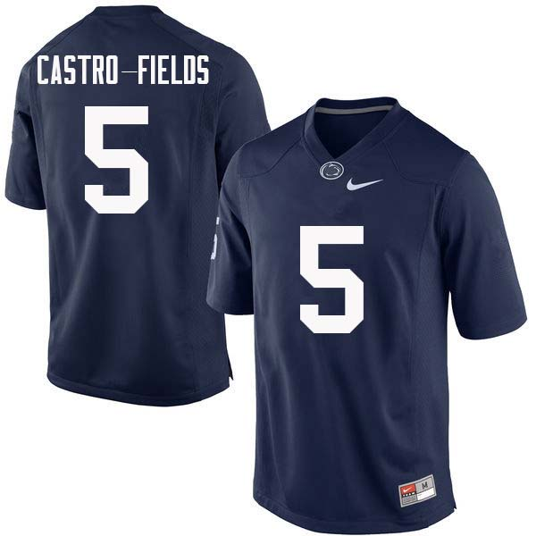Men #5 Tariq Castro-Fields Penn State Nittany Lions College Football Jerseys Sale-Navy