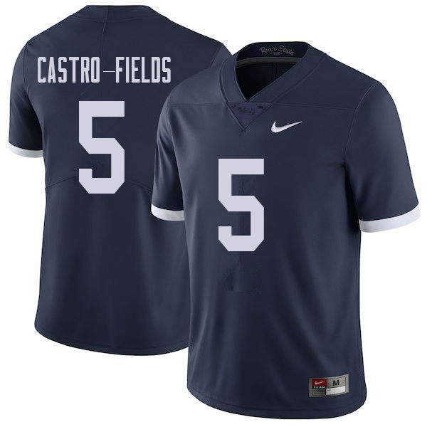 Men #5 Tariq Castro-Fields Penn State Nittany Lions College Throwback Football Jerseys Sale-Navy