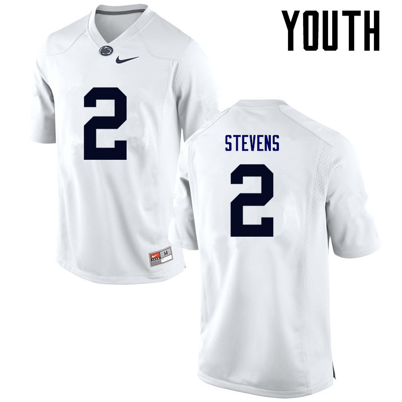 Youth Penn State Nittany Lions #2 Tommy Stevens College Football Jerseys-White